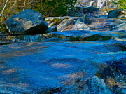 Dappled Light Photos - Step Falls in Blue 5 by George Ramos