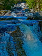Dappled Light Photos - Step Falls in Blue 6 by George Ramos