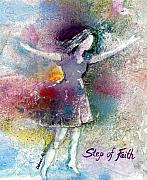 Inspirational Paintings - Step Of Faith by Deborah Nell