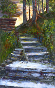 Steps Painting Originals - Step to The Light by George Richardson