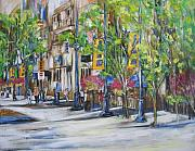 Streetscape Mixed Media - Stephen Ave. by Debora Cardaci