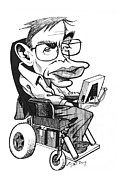 European Artwork Prints - Stephen Hawking, British Physicist Print by Gary Brown