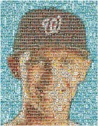 Washington Nationals Posters - Stephen Strasburg Card Mosaic Poster by Paul Van Scott