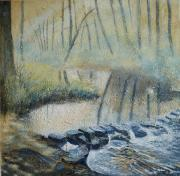 Stepping Stones Prints - Stepping into Spring Print by Sue Nichol