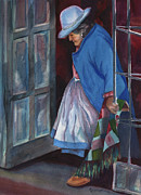 Peru Paintings - Stepping Out by Marsha Elliott