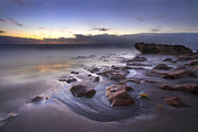 Jupiter Beach Posters - Stepping Stones Poster by Debra and Dave Vanderlaan