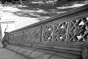 Streetscenes Photos - STEPS of CENTRAL PARK in BLACK AND WHITE by Rob Hans