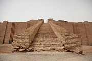 Iraq Prints - Steps Of The Ziggurat Of Ur Built Print by Everett