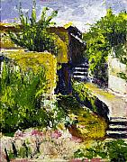 Steps Painting Originals - Steps to San Martin by Robert Sako