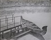 Solitude Drawings - Steps to Solitude by Soumya S