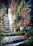 Staircase Paintings - Steps to the Garden by Sally Seago