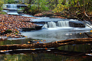 Ri Framed Prints - Stepstone Falls Framed Print by Andrew Pacheco