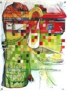 Drying Mixed Media Prints - Sterilize-d Print by Jill PRICE