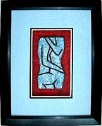 Recycled Reliefs - Sterling Blue Abstract Nude by E Dain Mcleod