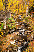 Sterling Art - Sterling Gorge Fall Stream 6136  by Ken Brodeur