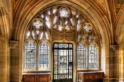 Gothic Architecture Pyrography Prints - Sterling Memorial Library II Print by Frank Garciarubio