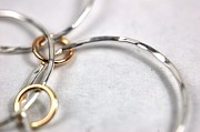 Circle Jewelry - Sterling Silver and Gold Filled Necklace by Julie Kujawa