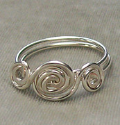 Custom Ring Jewelry - Sterling Silver Filled Triple Whorl Ring by Heather Jordan