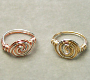 Custom Ring Jewelry - Sterling Silver Filled Vortex Fusion Ring by Heather Jordan