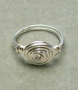Custom Ring Jewelry - Sterling Silver-Filled Vortex Ring by Heather Jordan