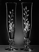 Champagne Photos - STEUBEN GLASSES, c1939 by Granger