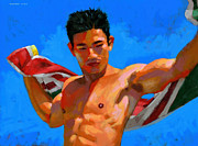 Asian Paintings - Steve C. with Towel by Douglas Simonson