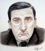 The Boss Pastels - Steve Carell as Michael Scott in The Office by Jim Fitzpatrick