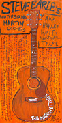 Acoustic Guitar Paintings - Steve Earles Martin by Karl Haglund