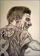 Soccer Drawings Originals - Steve Gerrard by Sean Leonard