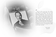 Black And Whites - Steve Jobs 1 by Anthony Rego