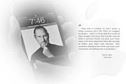 Iphone Framed Prints - Steve Jobs 2 Framed Print by Anthony Rego