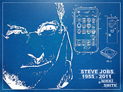 Blue Print Posters - Steve Jobs iPhone Patent Artwork Poster by Nikki Marie Smith