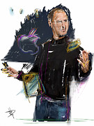 Celebrity Mixed Media Posters - Steve Jobs Poster by Russell Pierce