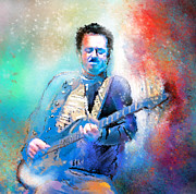 Music Mixed Media - Steve Lukather 01 by Miki De Goodaboom