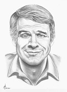 Famous People Drawings - Steve Martin by Murphy Elliott