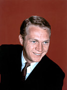 1960s Portraits Metal Prints - Steve Mcqueen, C. 1960s Metal Print by Everett