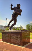 Memorial Stadium Art - Steve Owens by Ricky Barnard