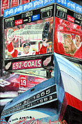 Detroit Drawings Framed Prints - Steve Yzerman- Detroit Red Wings Framed Print by Chris Ripley