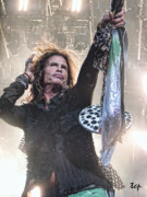 Steven Tyler Aerosmith Prints - Steven Gives Print by Traci Cottingham