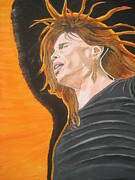 Aerosmith Paintings - Steven Tyler Art Painting by Jeepee Aero
