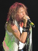 Aerosmith Framed Prints - Steven Tyler Concert Picture Framed Print by Jeepee Aero