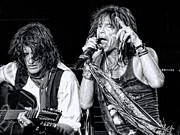 Steven Tyler Acrylic Prints - Steven Tyler Croons Acrylic Print by Traci Cottingham
