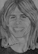 Steven Tyler Aerosmith Drawings - Steven Tyler Drawing Picture Portrait Musician by Jeepee Aero