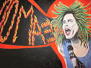 Aerosmith Paintings - Steven Tyler Dream On by Jeepee Aero