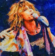 Steven Tyler Acrylic Prints - Steven Tyler Acrylic Print by Elizabeth Coats