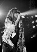 Aerosmith Framed Prints - Steven Tyler in Concert Framed Print by Traci Cottingham
