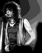Aerosmith Art - Steven Tyler in Spokane 1A by Ben Upham