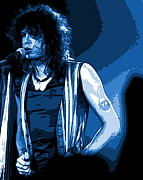 Aerosmith Art - Steven Tyler in Spokane 1B by Ben Upham