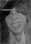 Steven Tyler Aerosmith Drawings - Steven Tyler Picture Image Portrait by Jeepee Aero