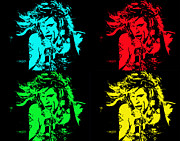 Steven Tyler Aerosmith Prints - Steven Tyler Pop Art Print by Traci Cottingham